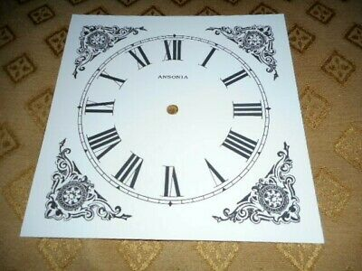 "Ingraham Shelf/Mantle Paper (Card) Clock Dial - 5"" MINUTE TRACK - Black Design"