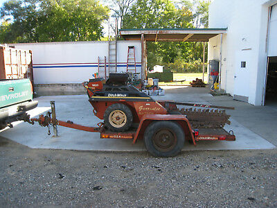 2006 Ditch Witch 1820H Walk Behind Trencher w/ Ditch Witch S2A Trailer 1820 Used