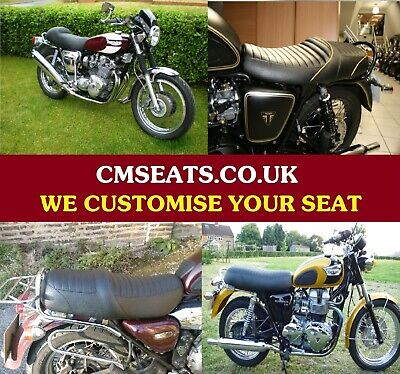 Triumph Bonniville Custom Gel Seat  *** We Customise Your Seat ***