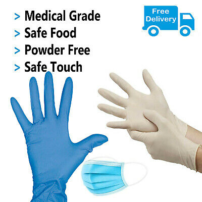 Disposable Gloves Powder and Latex Free Strong Food Medical Non-Sterile Gloves