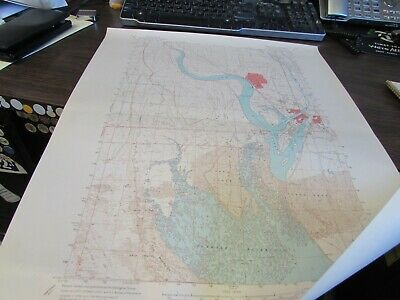 Moses Lake Washington  - Topographic Map U.s. Geological Survey 1966 Larson Afb
