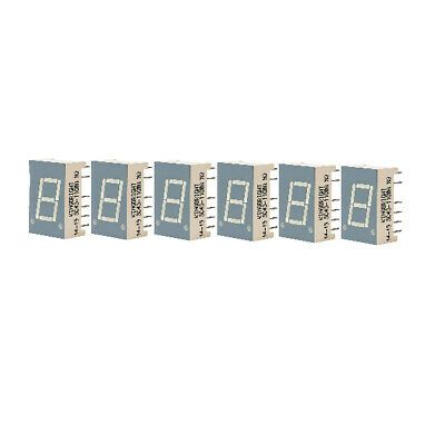 6 x Kingbright SC43-11GWA 10.9mm Green 7 Segment LED Display Common Cathode