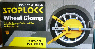 "Stoplock Wheel Clamp to fit 13"" to 15"" Wheels"
