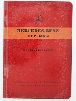 Mercedes-Benz Spare Parts Catalogue 1950s Model 300S in German