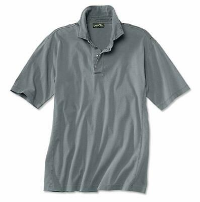 Mens Orvis Montana Morning Polo Shirt Red Large 42-44 Cotton Trout Comfort Rugby