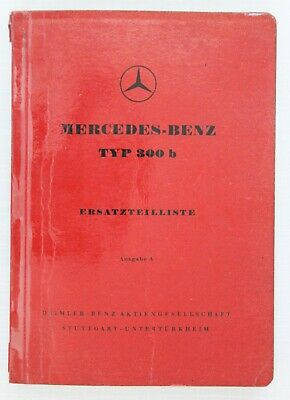 Mercedes-Benz Spare Parts Catalogue 1950s Model 300b in German