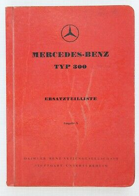 Mercedes-Benz Spare Parts Catalogue 1950s Model 300 in German