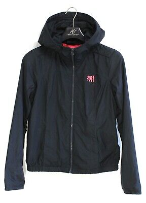 ABERCROMBIE & FITCH Girls Jacket Size XL 16 Years Hooded Black s2366