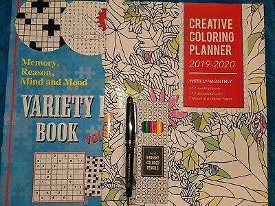 New Color Planner 2020 & Variety Puzzle Book