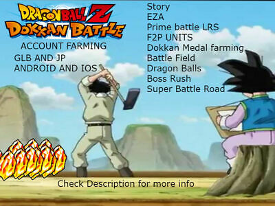 Dragon Ball Z Dokkan Battle Account quick farming ios,android jp,global