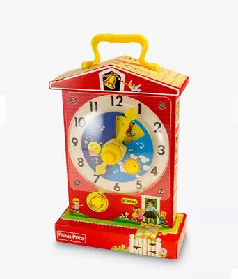 Fisher Price Classics Music Box Teaching Clock #1698 Musical Teaches Time
