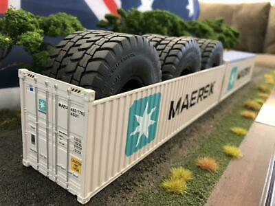 1:50 Maersk 40' 9'6 Open Top Shipping Container -- Iconic Replicas Diecast
