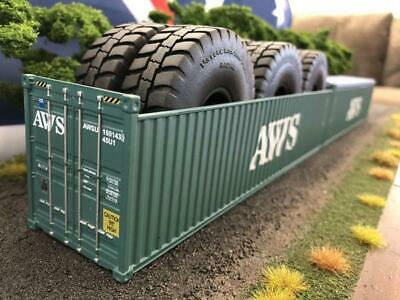 1:50 AWS 40' 9'6 Open Top Shipping Container -- Iconic Replicas Diecast