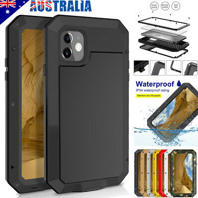 Fr iPhone XR XS 11 Pro Max 8 7 6s Plus 5 Case Metal Glass Heavy Duty Armor Cover