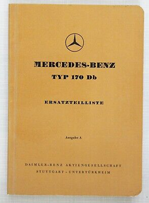 Mercedes-Benz Spare Parts Catalogue 1950s Model 170Db in German