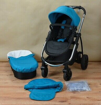 iCandy Strawberry 2 Travel System Single Seat Stroller, Pushchair, Carrycot Blue