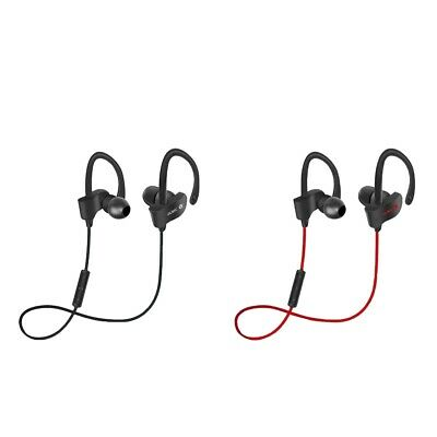 2x Sports Wireless Bluetooth Headphones for Running Work Home Black+Red