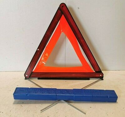 Bmw Slimmer Style Boot Warning Triangle With Container Blue