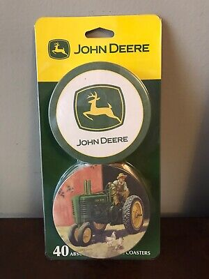 Collectable John Deere Paper Table Coasters 40 Pack