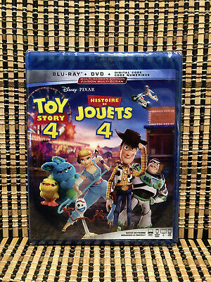 Toy Story 4 (2-Disc Blu-ray/DVD, 2019)Disney/Woody/Buzz Lightyear/Keanu Reeves