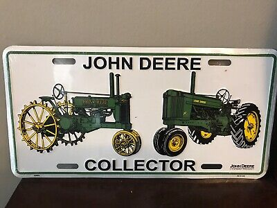 "John Deere Collector Tin Metal License Playe Sign 12""x6"""