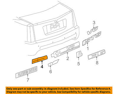 GM Genuine 25844607 Compartment Lid Vehicle Name Plate Rear