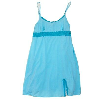 Victorias Secret Angels Lingerie Size Small Slip Nightgown Light Blue Chemise
