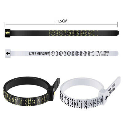 Professional Ring sizer UK/US Official Finger Measure Gauge Men and Womens Sizes