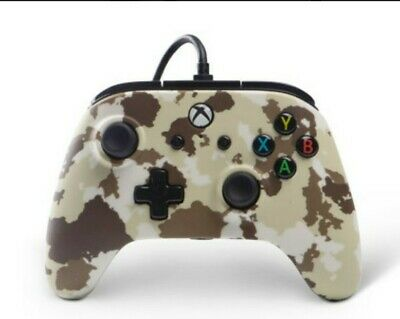 Microsoft Xbox One PowerA Enhanced Wired Controller Sandstorm Camo