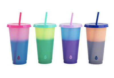 TAL 24oz Reusable Color Changing Cups 4pc Assorted similar Starbucks Venti