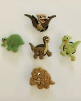 NWT Land Before Time Shoe Charm Set Of 5 For Crocs