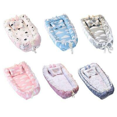 Baby Bed Portable Infant Travel Sleep Nest Soft Breathable Cotton Lounger Bed