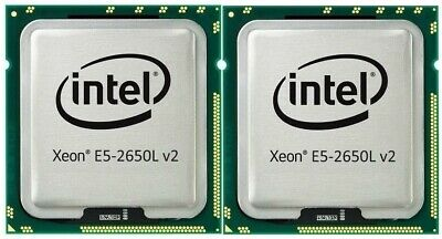 Set of - 10-CORE Intel® Xeon® Processor E5-2650L v2 25M Cache, 1.70 GHz