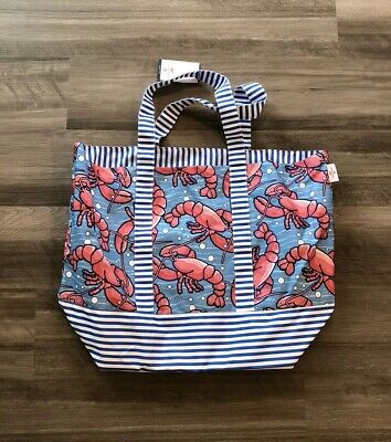 Vineyard Vines For Target Lobsters Beach Tote Bag Blue Red Striped Ready to Ship