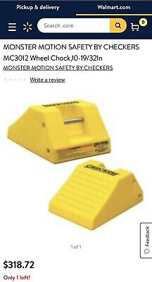 MONSTER MOTION SAFETY BY CHECKERS MC3012 Wheel Chock,10-19/32In