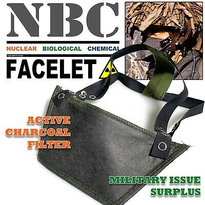 Military Surplus NBC Protective Face Mask with Sealed Active Charcoal Filter