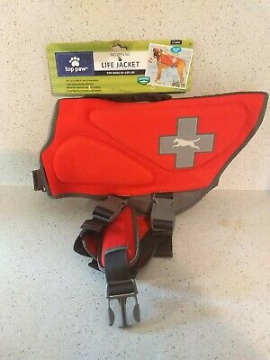 NEW Top Paw Neoprene Life Jacket For Dogs Sizes X-Small to X-Large - REFLECTIVE