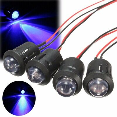 12V 10mm Pre-Wired Constant LED Ultra Bright Water Transparent Bulb Set of 10 UK