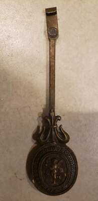 "Ornate Brass Clock Pendulum 6.25""H Antique Vintage"
