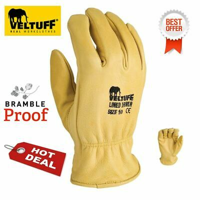 hide Leather Thorn Proof Gardening Gloves Puncture Resistant Bramble proof