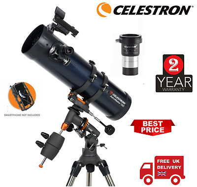 Celestron AstroMaster 130EQ Newtonian with Adapter & Barlow T-Adopter (UK Stock)