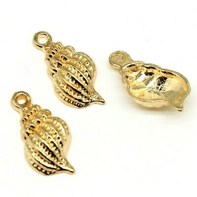 30Pcs Charm Shell Conch Kc Gold Color Conch Pendant Charms For Jewelry Making