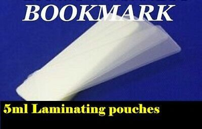 10 bookmark laminating pouches/wallets/sleeves 5ml size 2 X 6