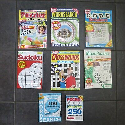 Puzzle Collection books x 8 mixed Bundle different brand NEW books crossword
