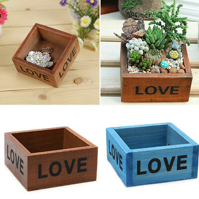 Wooden Garden Flower Bed Planter Plant Pot Window Vegetable Herb Box Tray ONE