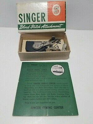 Vintage Singer Sewing Machine Parts Blind Stitch attachment 160616 & manual