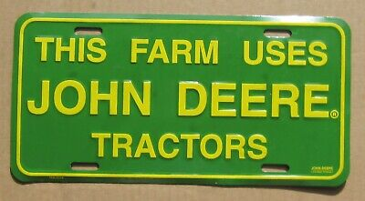 JOHN DEERE vintage advertisement License Plate