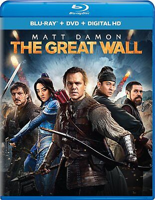 The Great Wall Matt Damon BLU RAY + OUTER SLEEVE VERY GOOD (NO DIGITAL NO DVD)