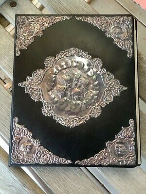 Antique Sterling Silver Cherubs Notebook
