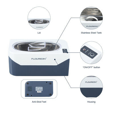 Professional 400ml Ultrasonic Cleaner Cleaning Machine with Stainless Steel Tank